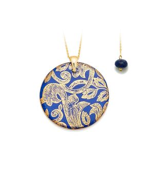 Round Pendant Necklace with Charm, fig. 1