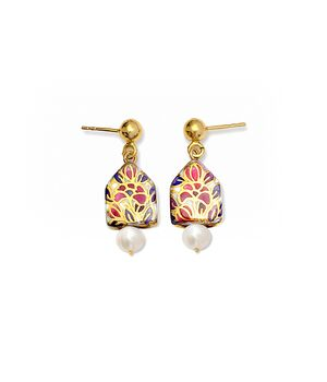 Miniature Pearl and House Earrings, fig. 1