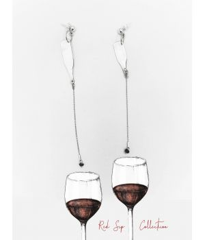 Drop of Wine Earings, fig. 1