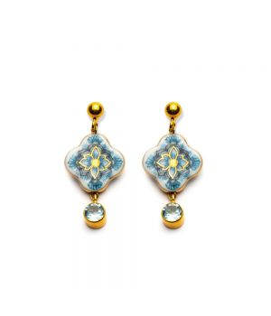 Cross Earrings with Topaz, fig. 1