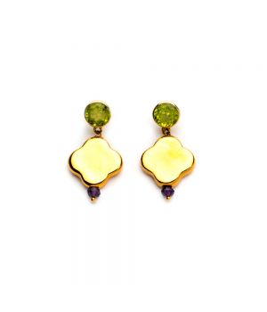 Cross Earrings with Peridot, fig. 1