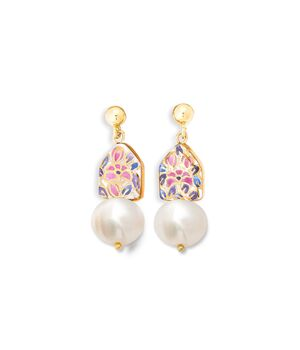 House Earring with Pearl, fig. 1