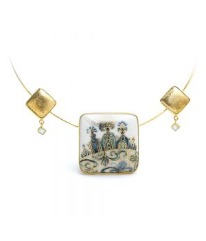 Gold Plated Silver Necklace: Small Series, fig. 1