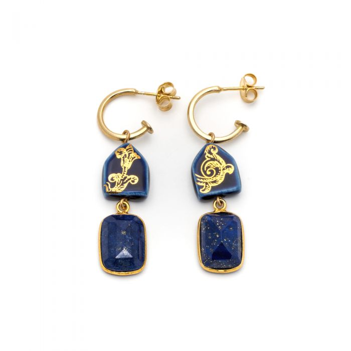 House and Lapis Creole Earrings, fig. 1