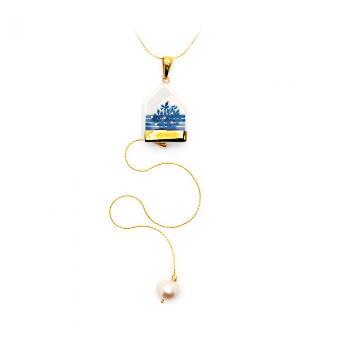 Duo House Necklace and Charm, fig. 1