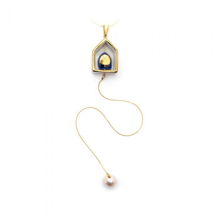 Duo House Necklace and Charm, fig. 2