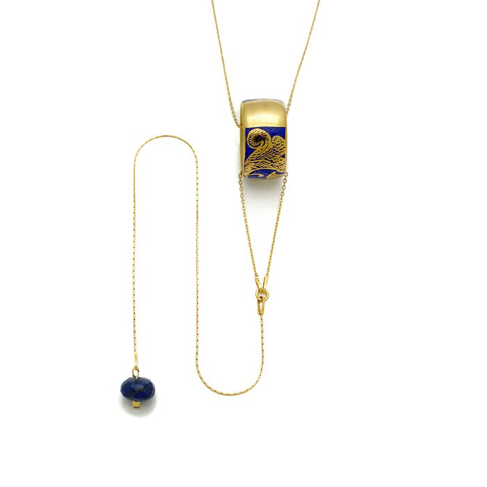 Ring Pendant Necklace with Charm, fig. 1