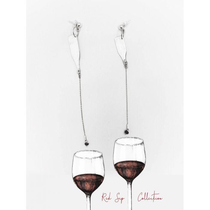 Drop of Wine Earings, fig. 1