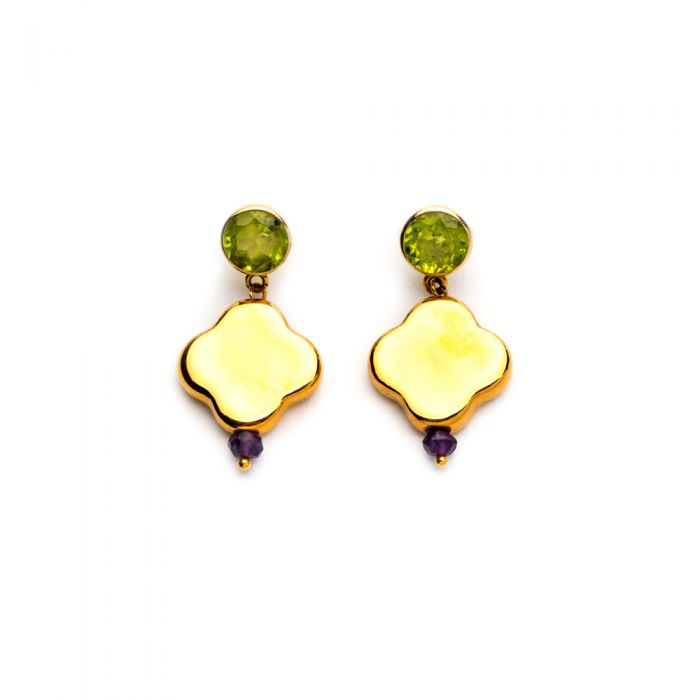 Cross Earrings with Peridot, fig. 1