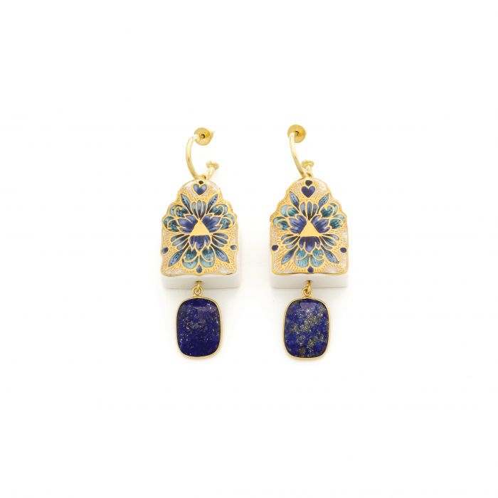 """""""The Journey"""" Lapis Earrings: Limited Edition, fig. 1"""