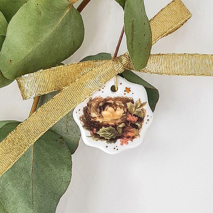 Christmas tree decoration Golden Goose Nest - Vintage Christmas, fig. 1